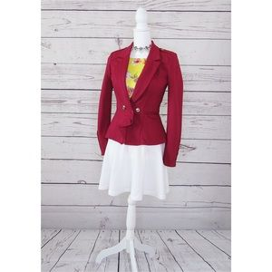 Dark Red WHBM Blazer Jacket Size 0